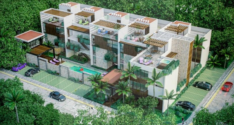 Exclusivos departamentos en condominio dentro de Aldea Zama, Tulum