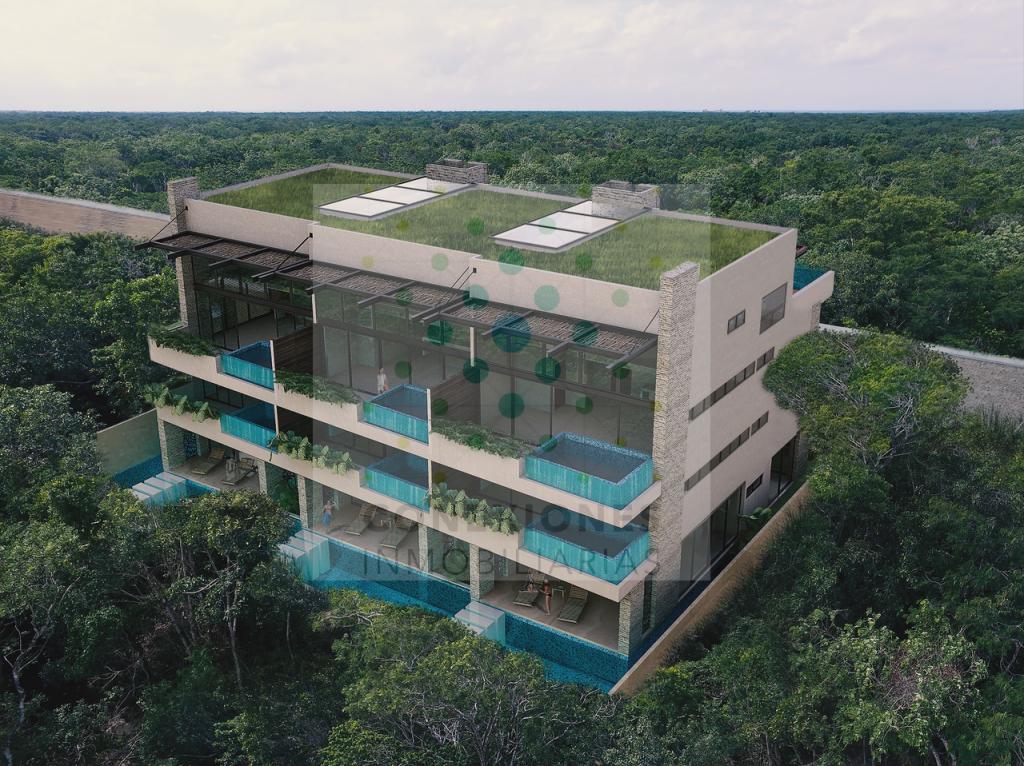 En venta departamento en condominio en lote Premium de Aldea Zama, Tulum