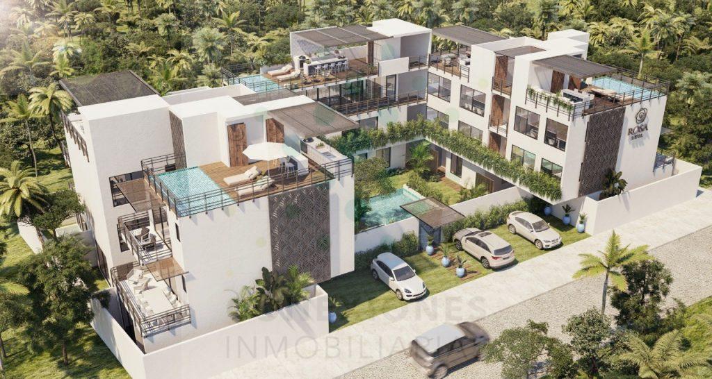 Apartamentos en condominio con exclusivo diseño mediterráneo en Tulum